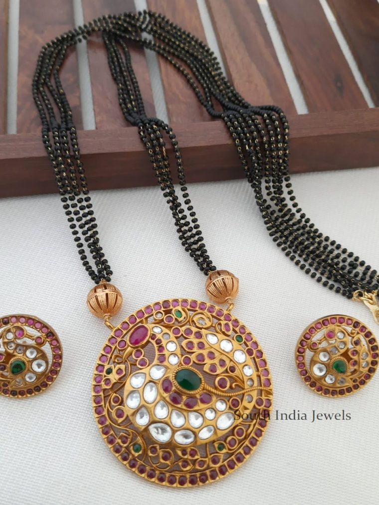 Traditional Peacock Pendant Mangal Sutra