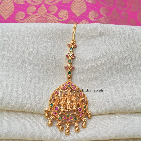 Traditional Raam Parivar Design Maang Tikka