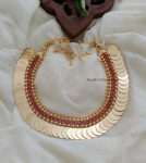 Traditional Ruby Lakshmi Coin Necklace