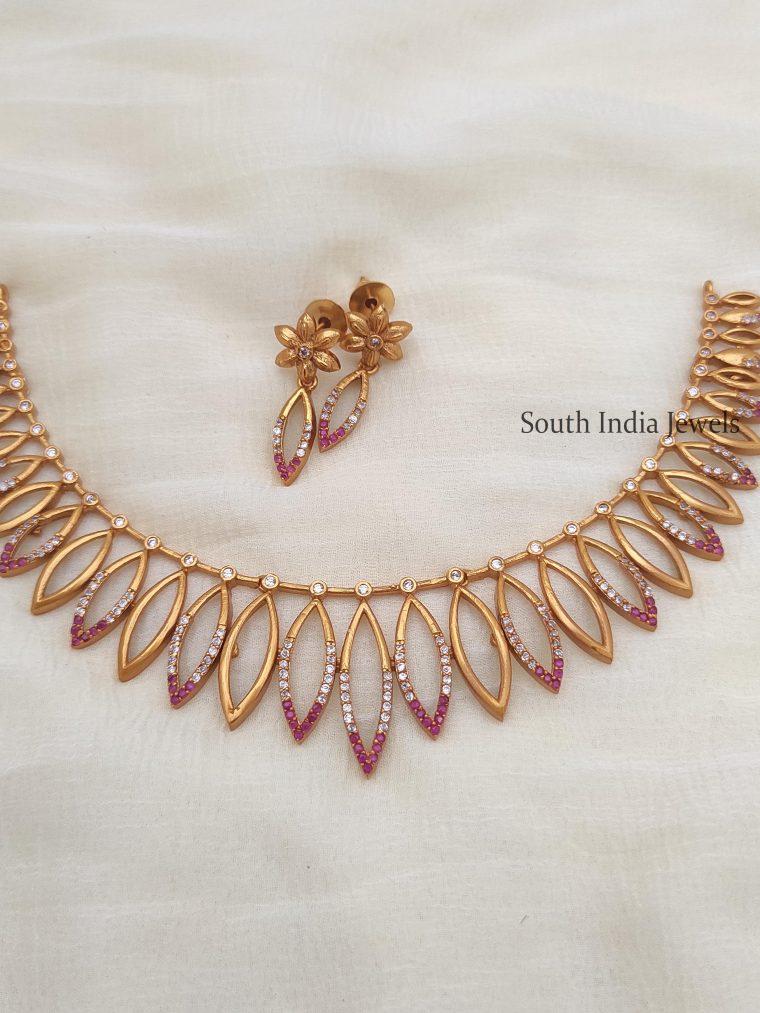 Trendy Kerala Style Leaf Necklace