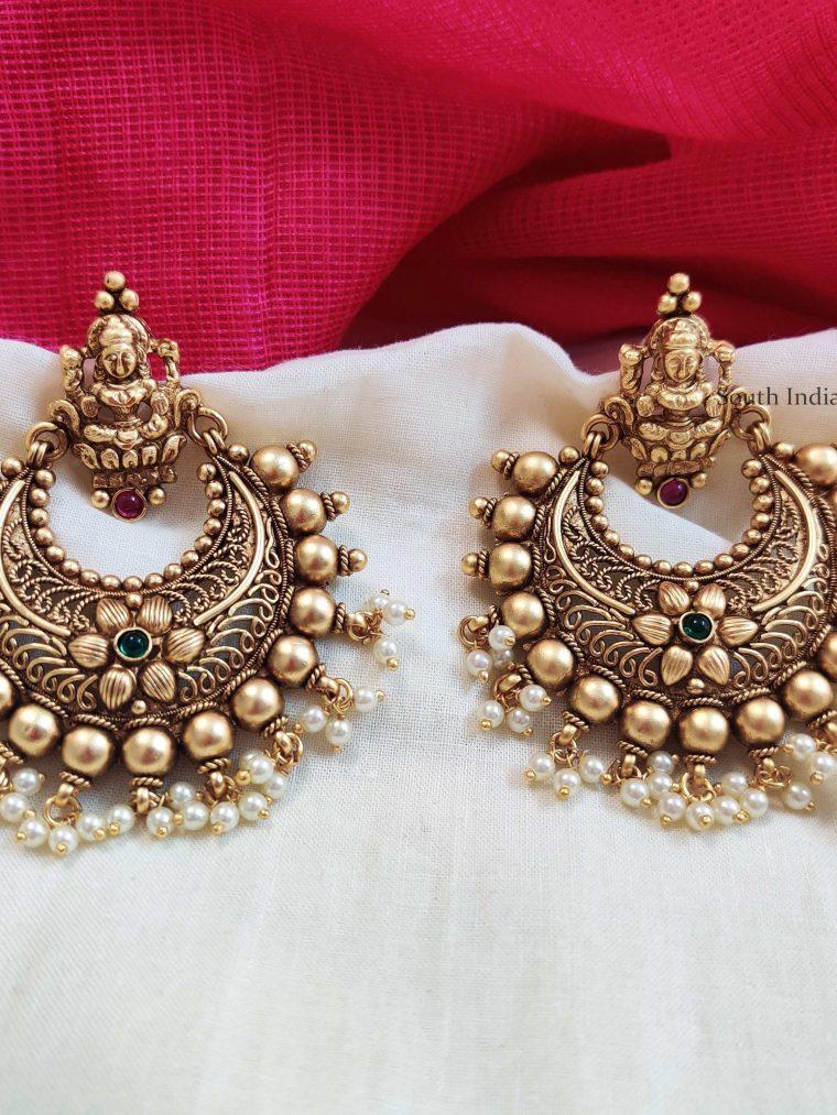 Trendy Lakshmi Chandbali Earrings
