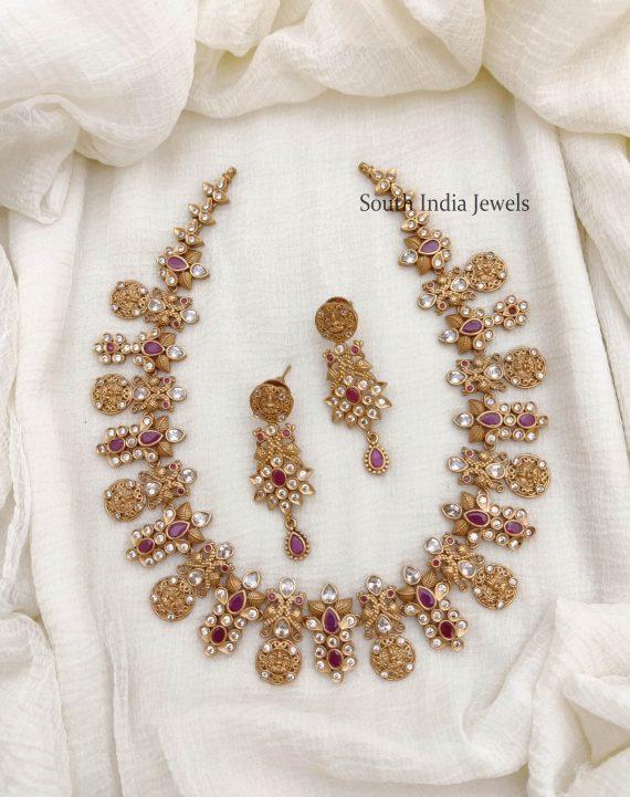 Trendy Lakshmi Design AD Necklace