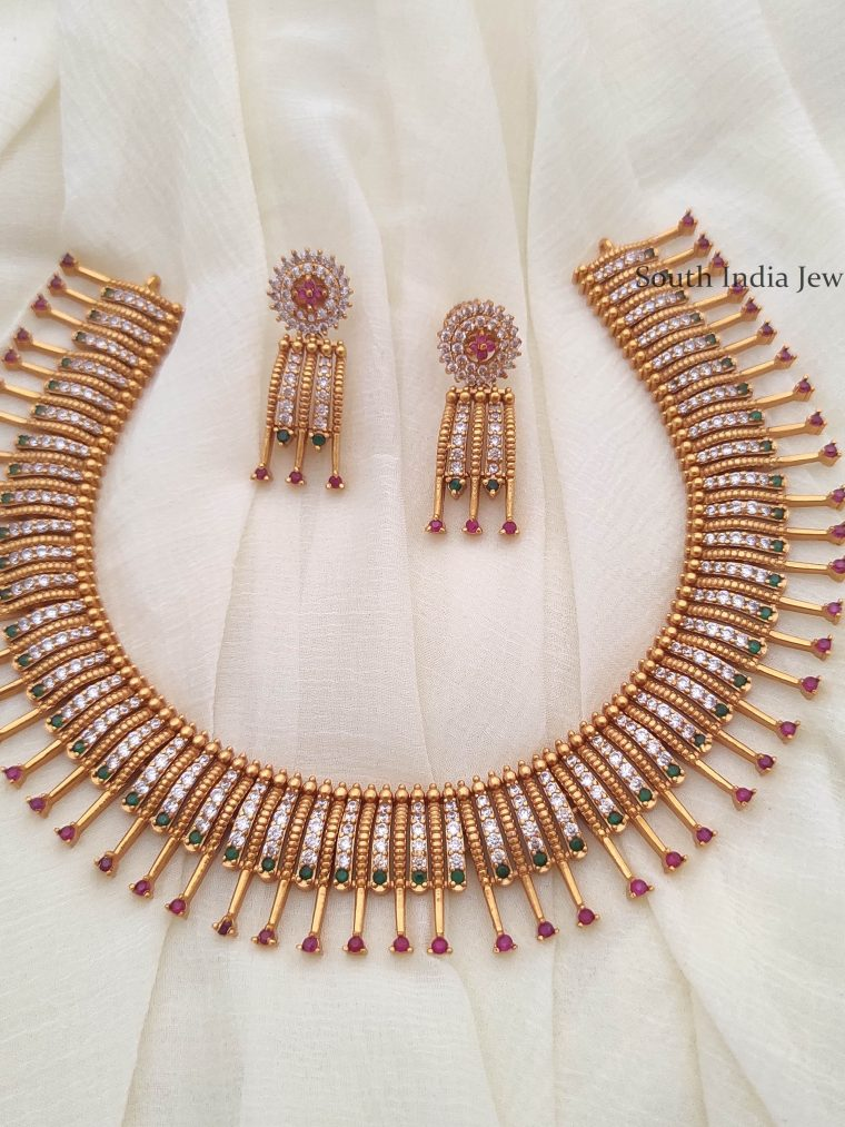 Unique CZ Mallu Design Necklace