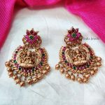 Unique Floral Design Lakshmi Earrings