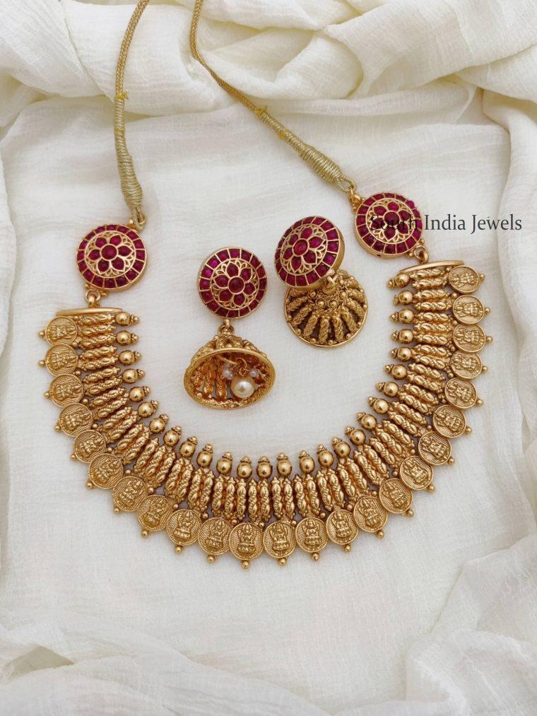 Unique Lakshmi Coin Mogappu Necklace