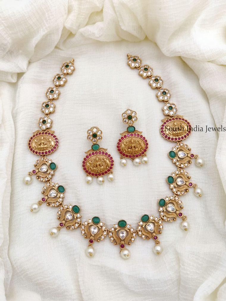 Unique Lakshmi Design AD Necklace