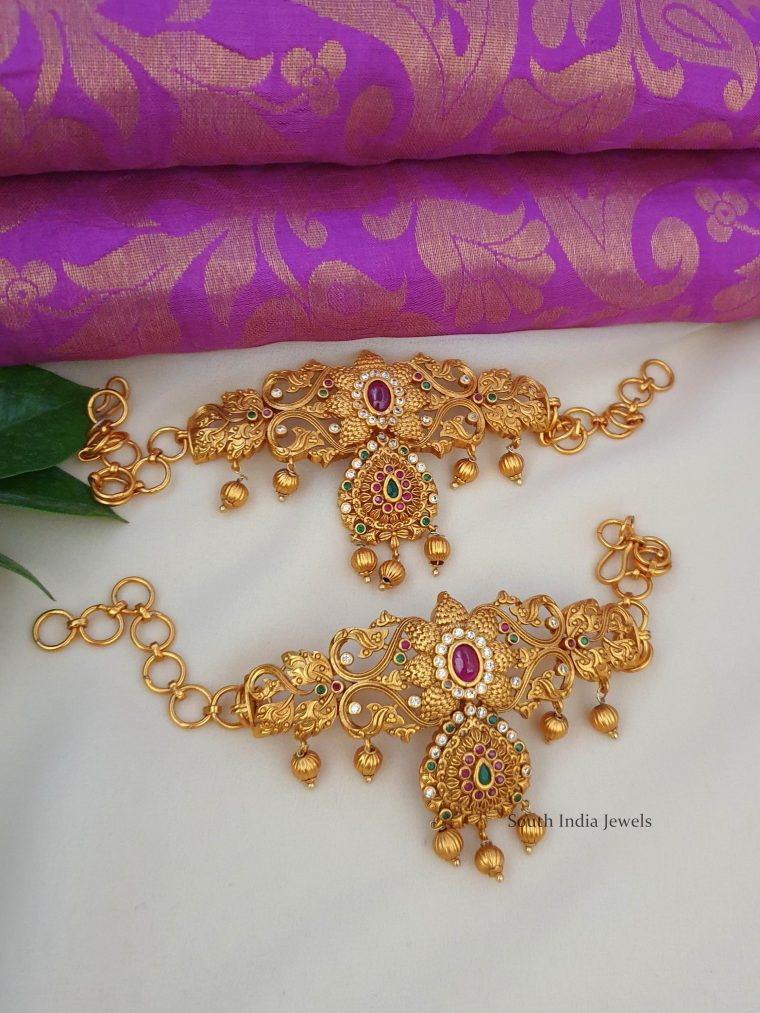 Amazing Crafted Floral Design Armlet Set