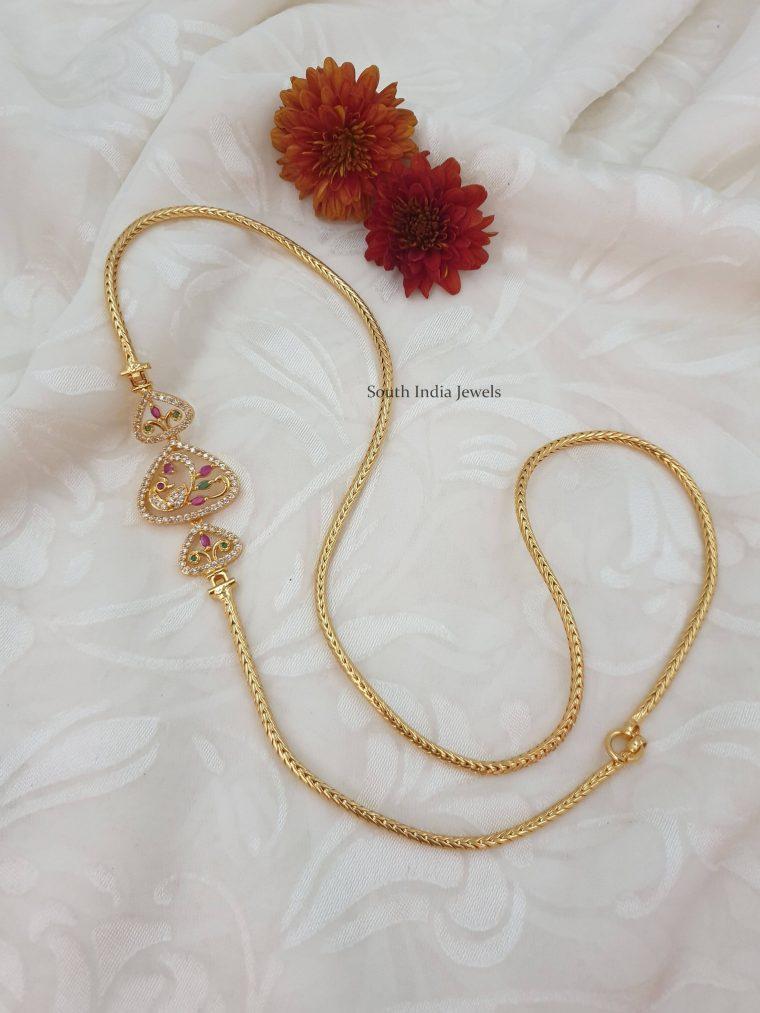 Amazing Peacock Design Mugappu Chain
