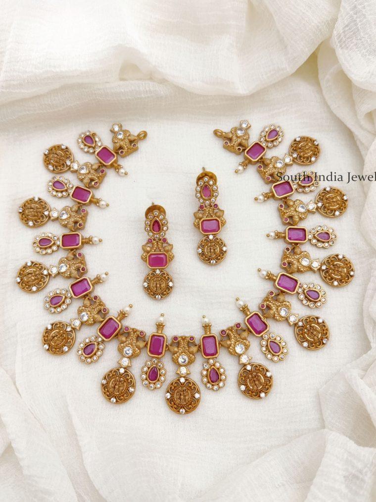 Amazing Ram Parivaar AD Stone Necklace