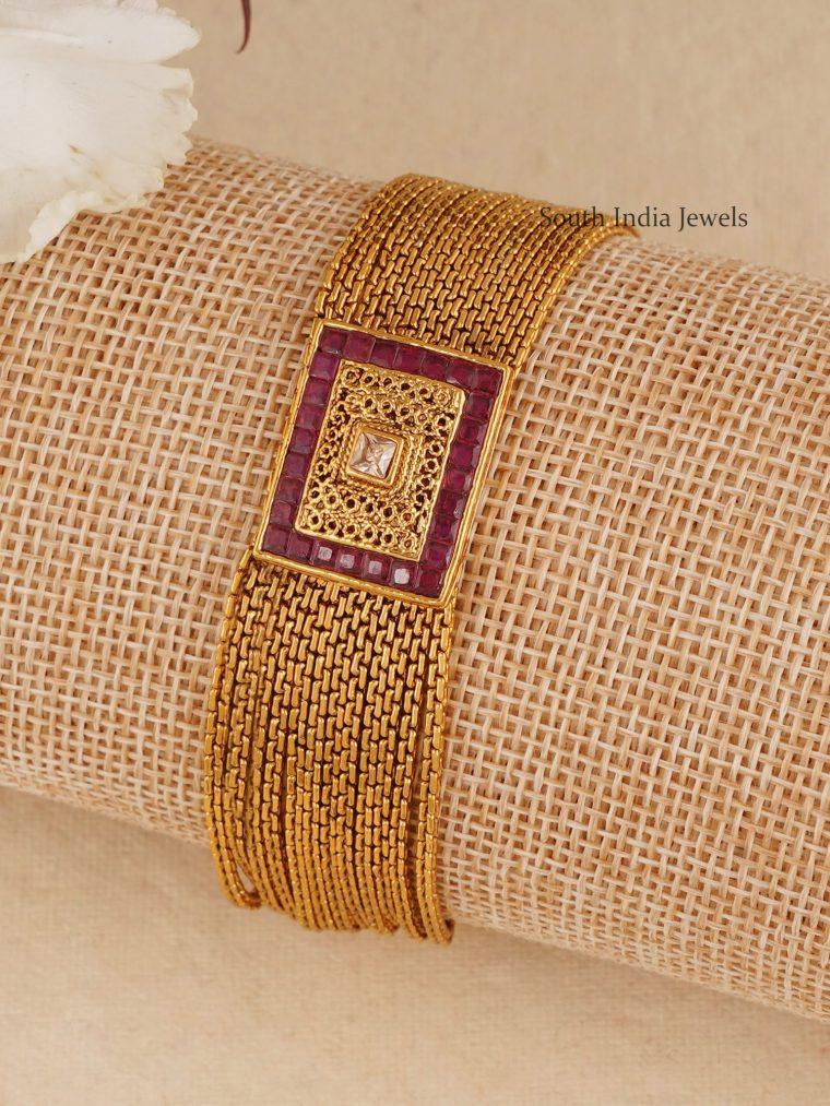 Amazing Ruby Stone Chain Bracelet