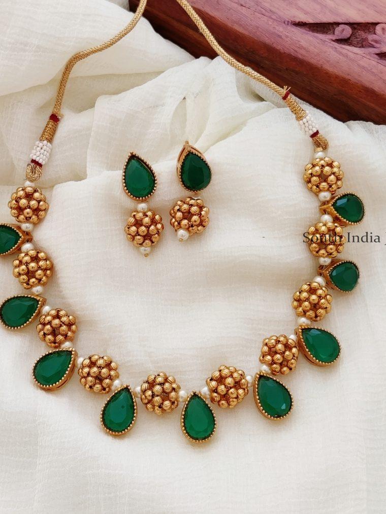 Ancient Antique Gold Bead Necklace