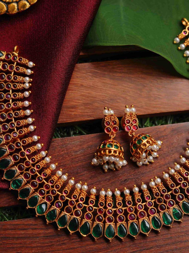 Antique Kerala Style Palaka Necklace-01