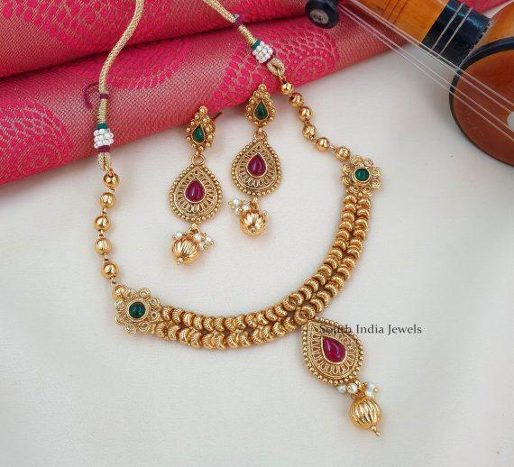 Antique Sleek Necklace Set