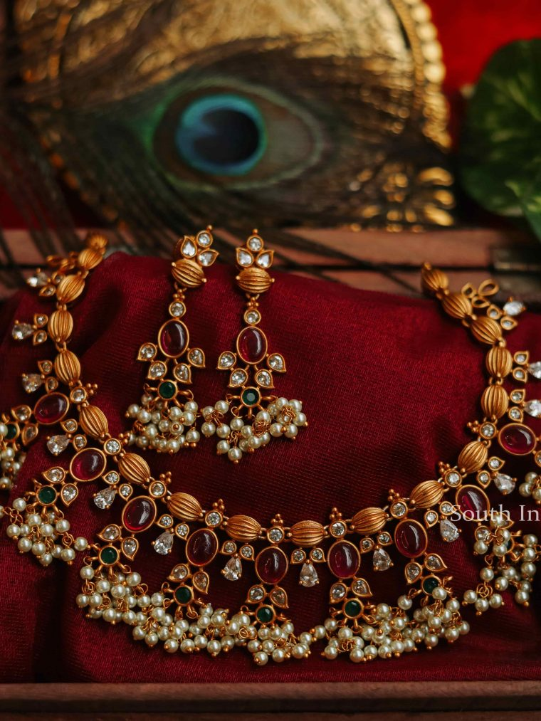 Attractive Guttapusalu Necklace Set