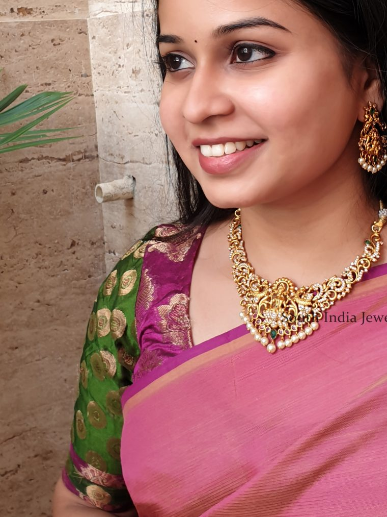 Awesome Lakshmi Matte Finish Necklace Set