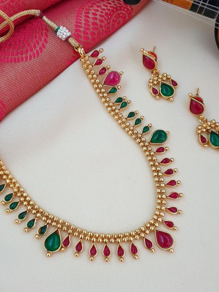 Beautiful Antique Multi Stone Necklace Set