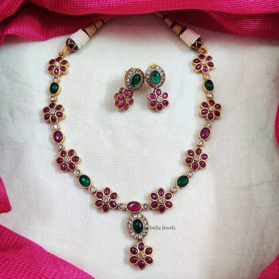Beautiful Flower Sequence Necklace