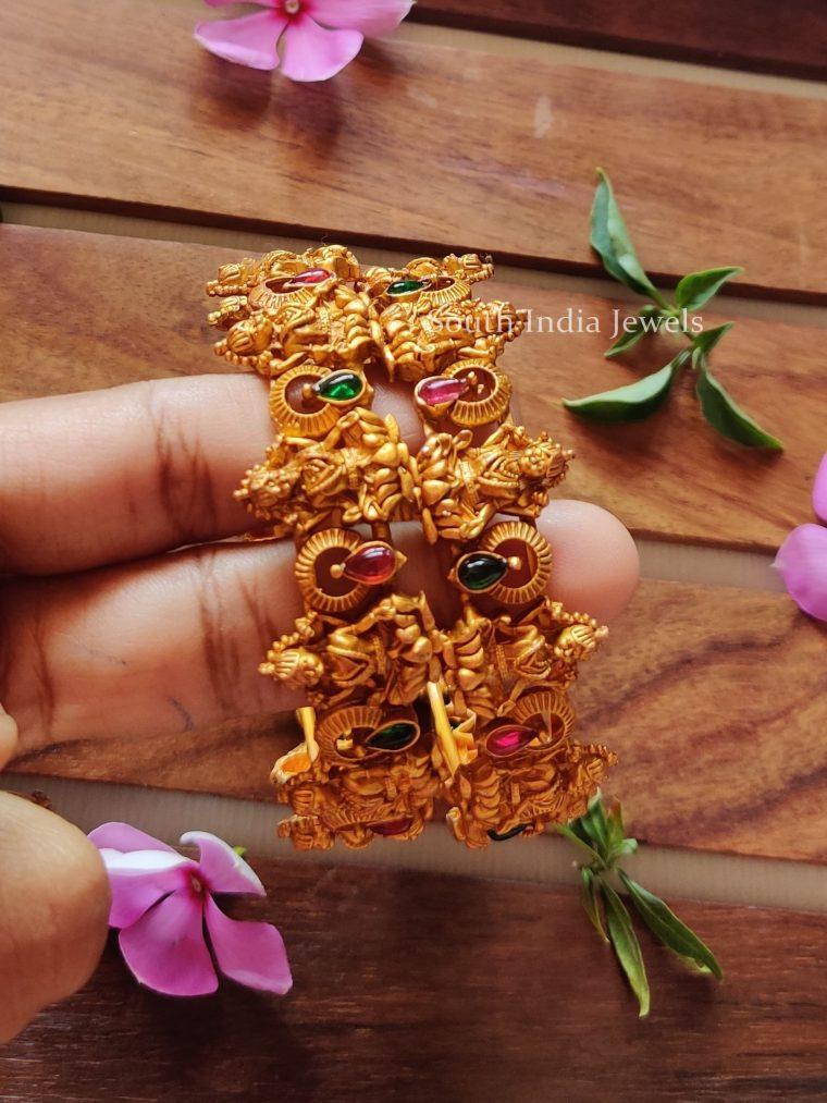 Beautiful-Gold-Matte-Finish-Lakshmi-Bangles