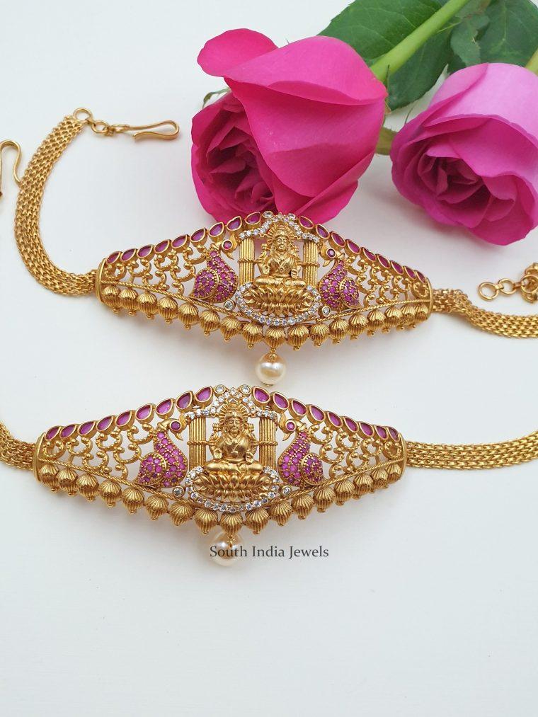 Beautiful Lakshmi Design Armlet Set