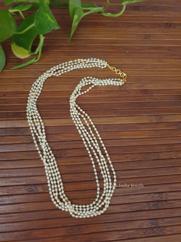 Beautiful Layered Pearl Chain