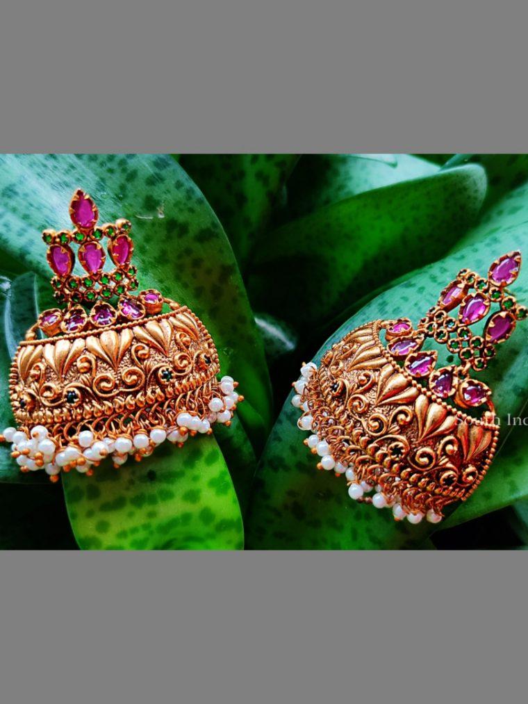 Beautiful Matte Finish Bali Earrings