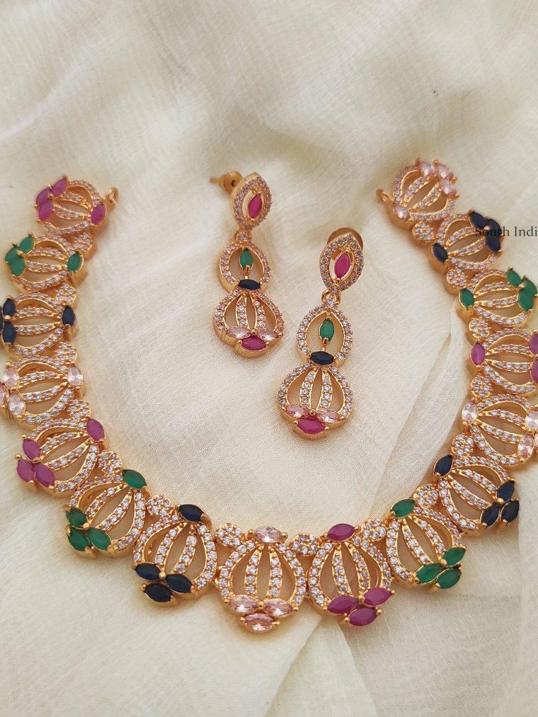 Beautiful Multi Color CZ Necklace