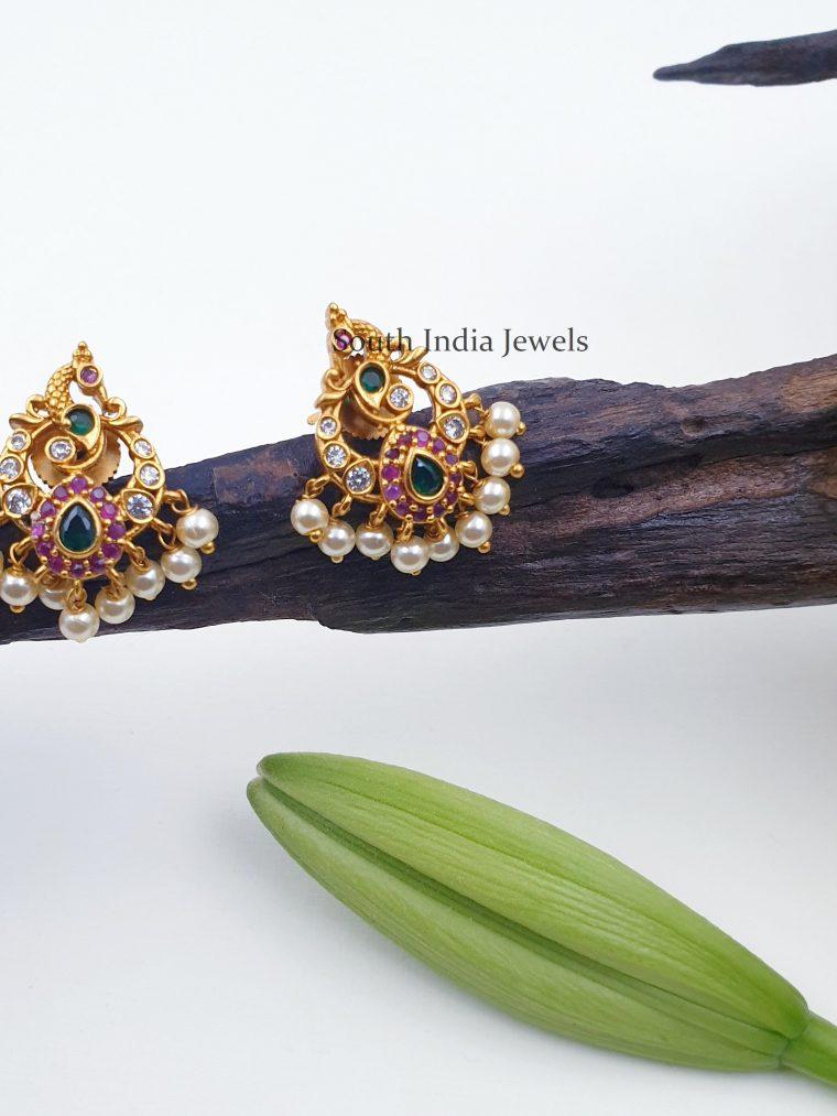 Beautiful Peacock Design Earrings
