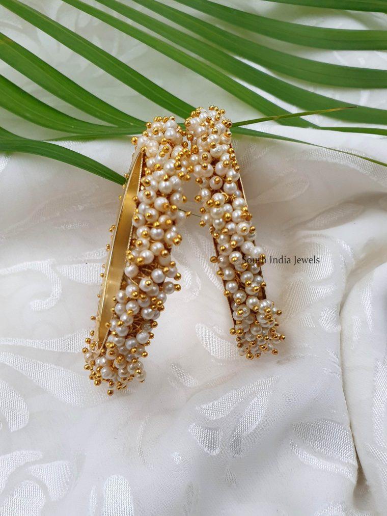 Beautiful Pearl Cluster Bangles