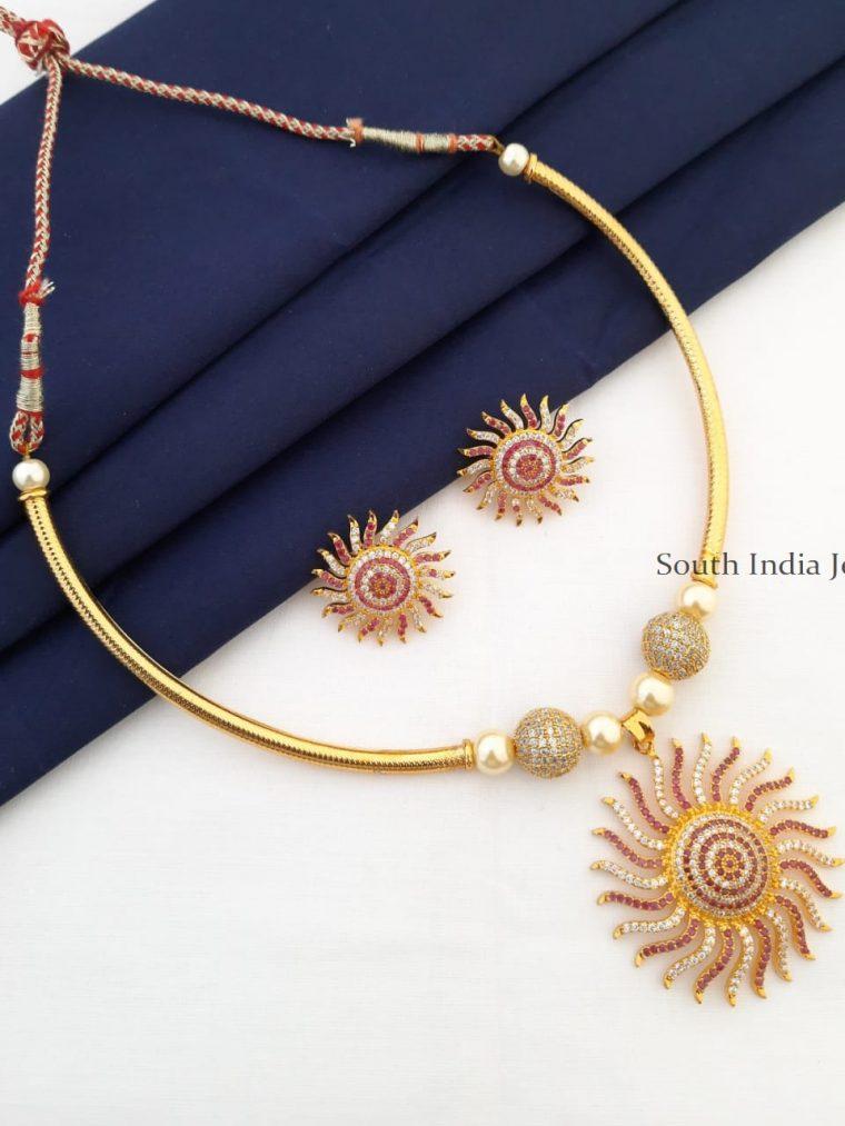 Beautiful Sun Pendant Necklace