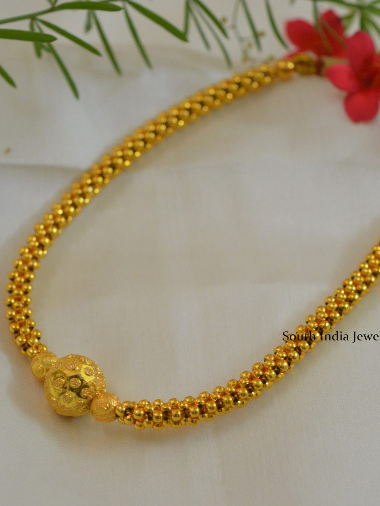 Beautiful-Woven-Gold-Balls-Necklace