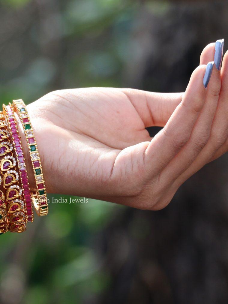 Bridal Gold Finish Bangle Set (2)