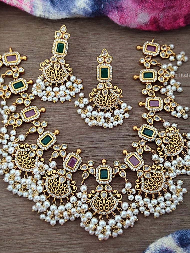 Bridal Matte Finish Necklace Set (3)