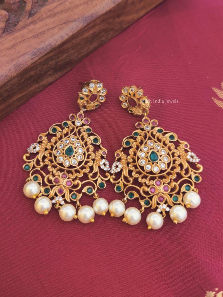 Bridal Peacock Design Earrings