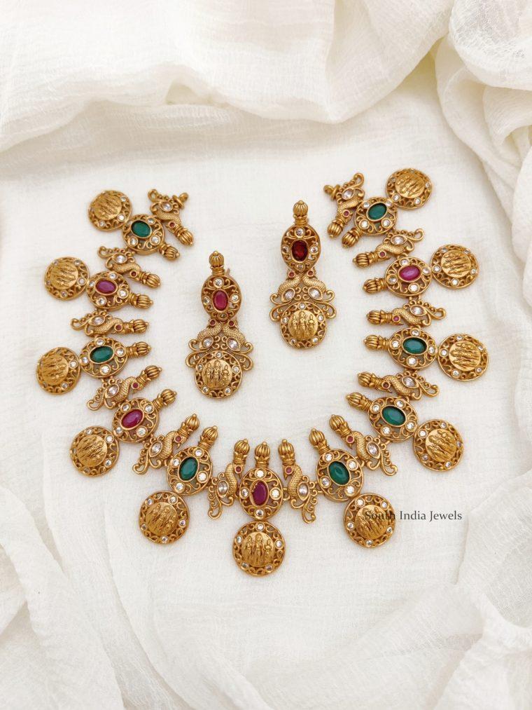 Classic Ram Parivar AD Stone Necklace (2)