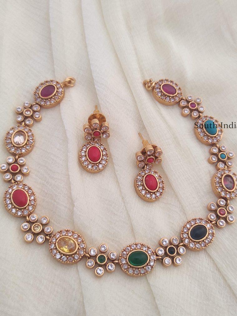Classical Navarathna Necklace