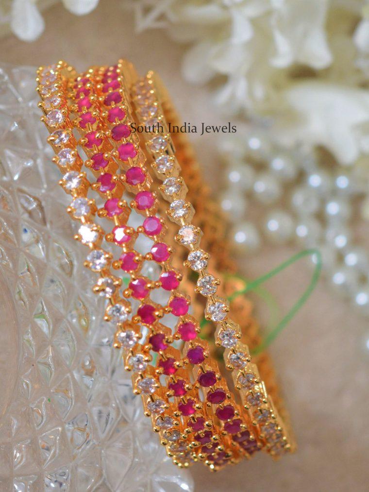 Elegant Colorful Stone Bangles