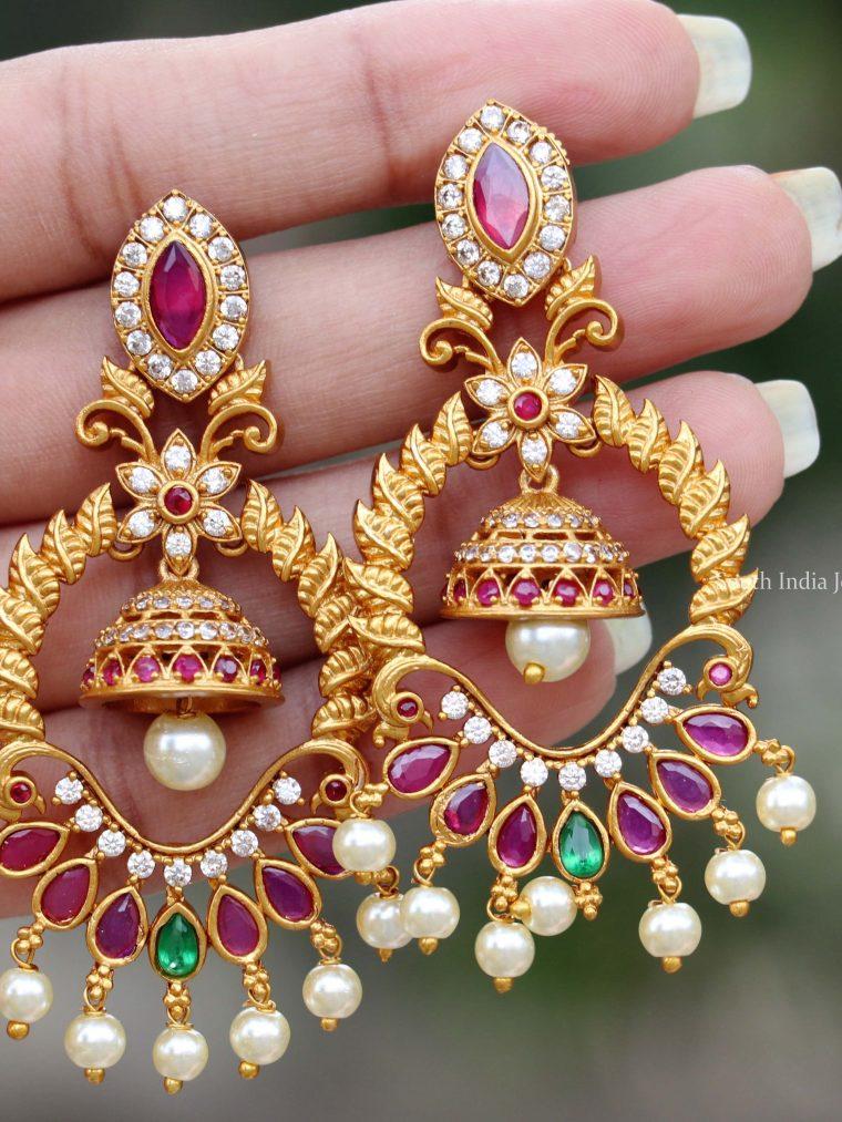 Elegant Gold Finish Earrings