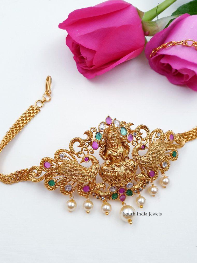 Elegant Lakshmi Choker cum Armlet Set (2)