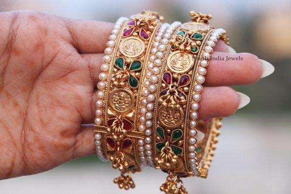 Elegant Lakshmi Coin Bangle