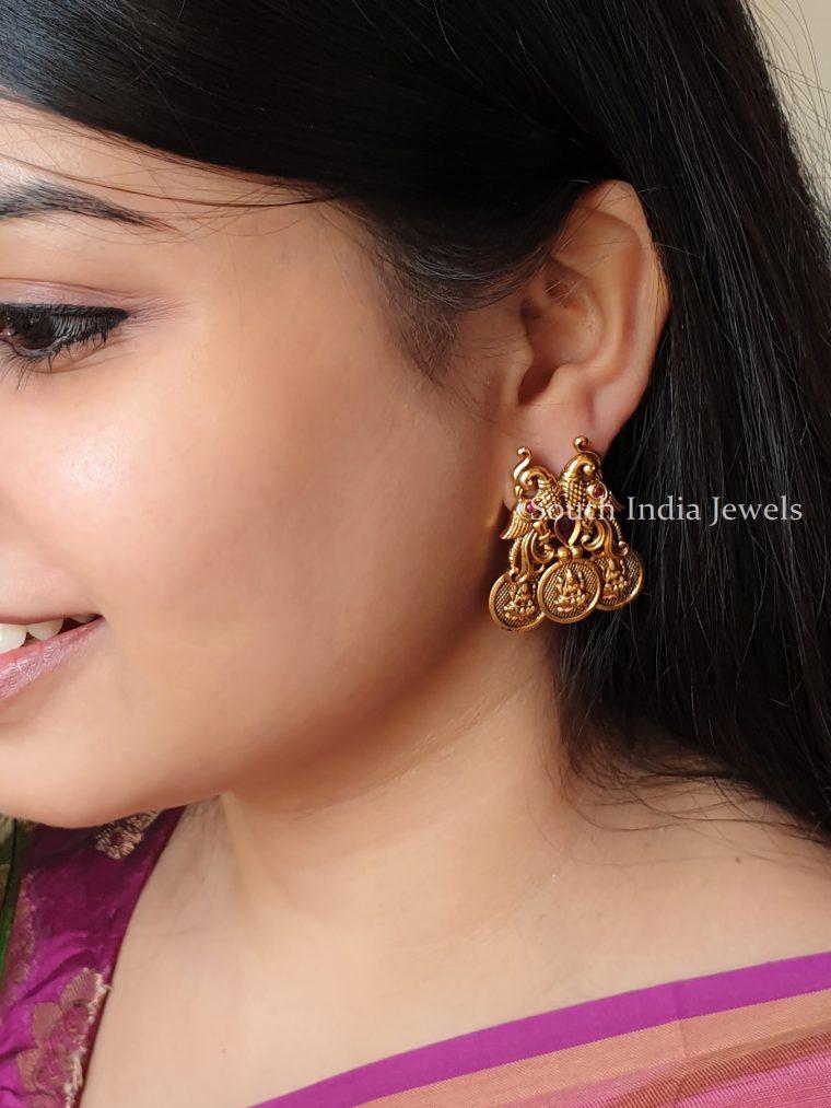 Elegant Peacock Design Earrings