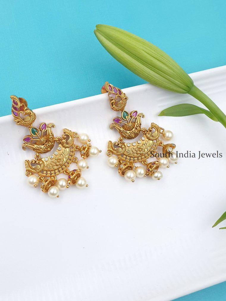 Fabulous Chandbali Peacock Design Earrings