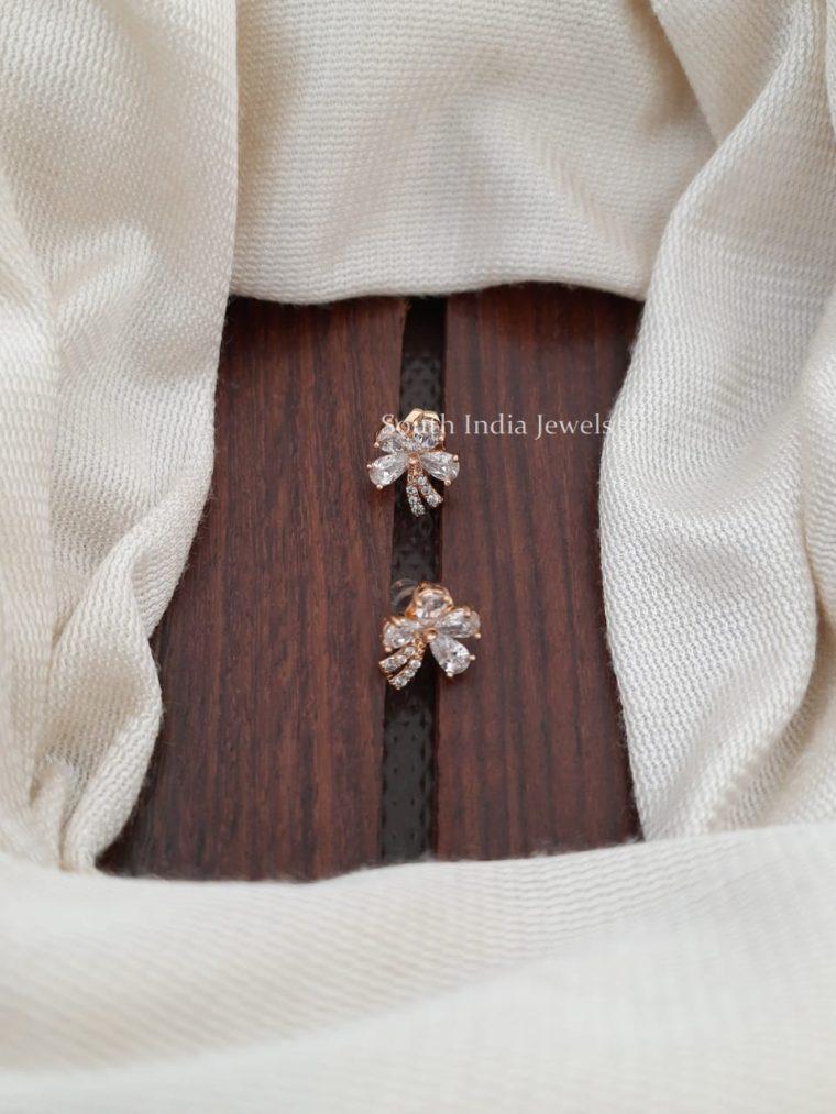 Floral Design CZ Stone Earrings
