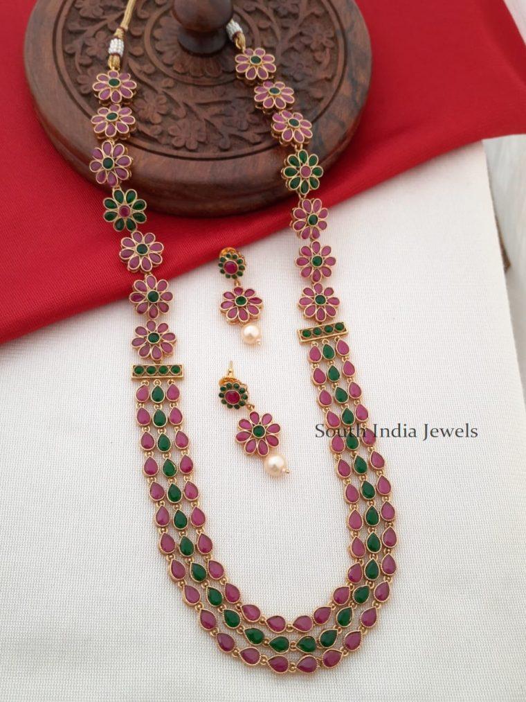 Floral Design Kemp & Green Long Haram