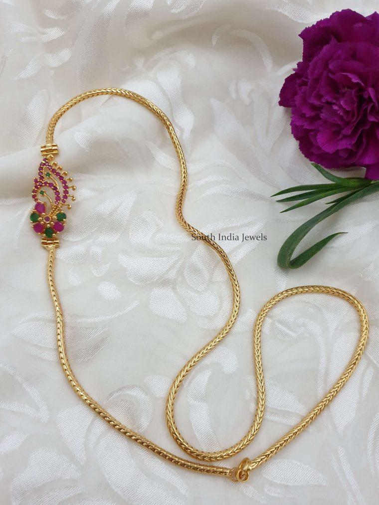 Floral Design Mugappu Chain (2)