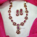 Floral Design Stone Necklace