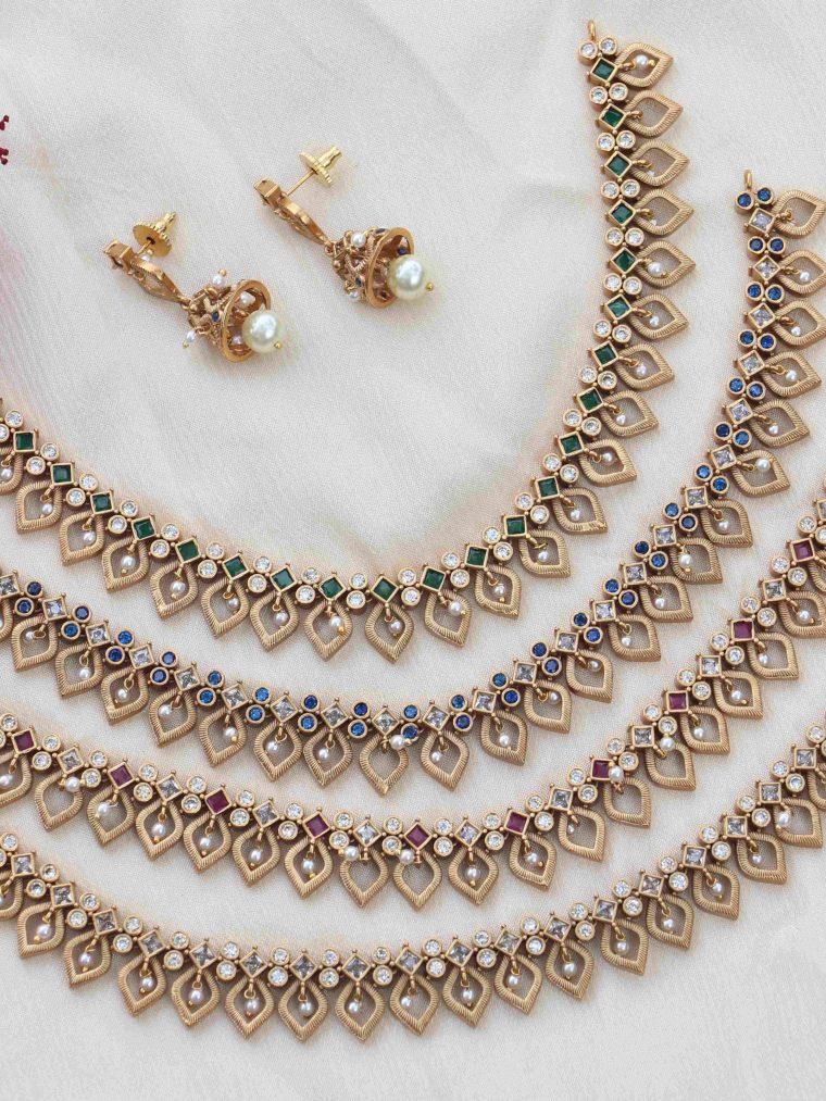 Floral & Leaf Design Necklace (2)