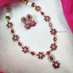 Flower Design Kemp Stone Necklace (2)