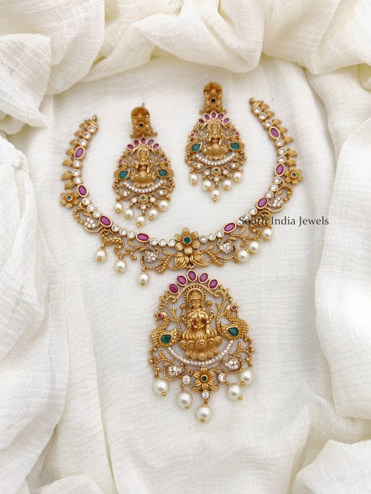 Glamorous Lakshmi Design AD Stone Necklace