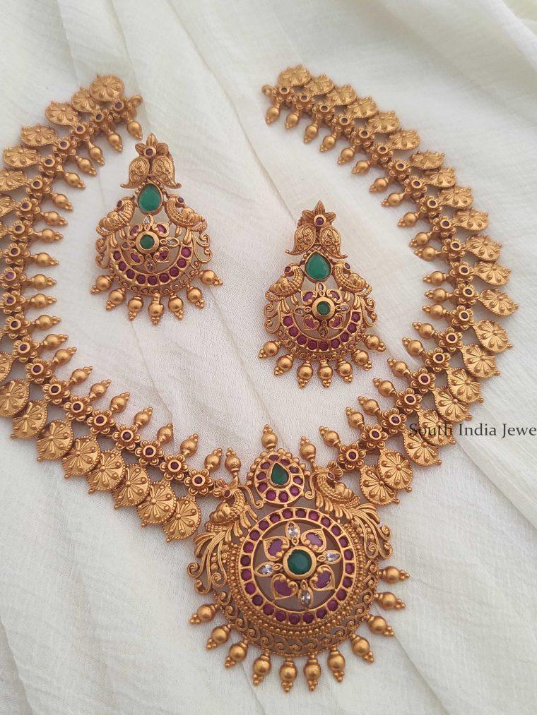 Glorious Peacock Design Necklace