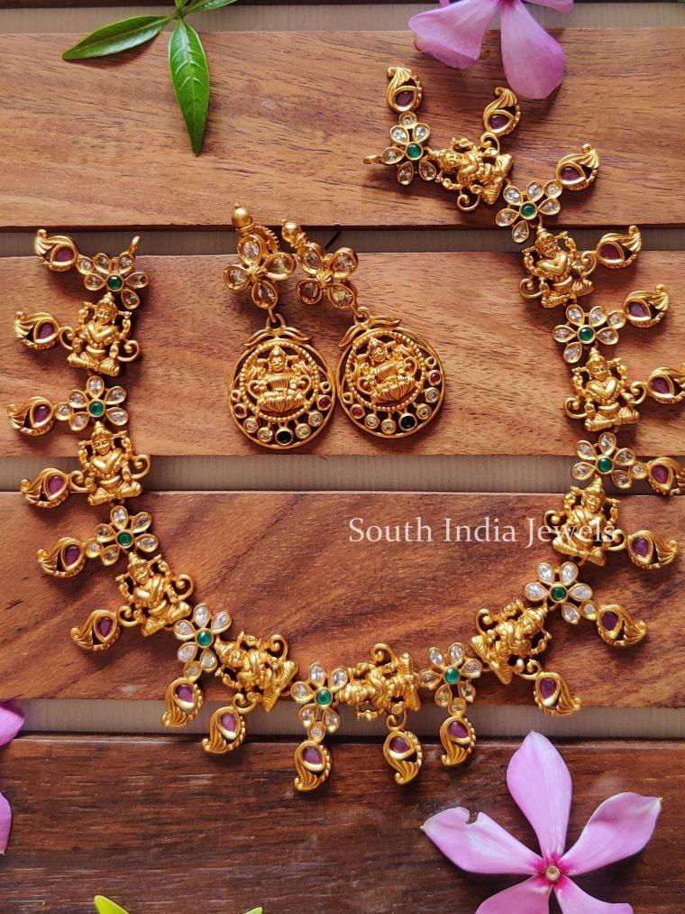 Goddess Laxmi Floral Choker Set-1